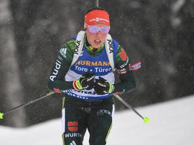 Laura Dahlmeier hat in diesem Jahr einen Massenstart gewonnen.