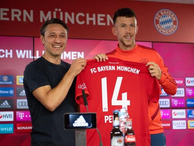 Kroaten unter sich: Bayern-Coach Niko Kovac (l) und Neuzugang Ivan Perisic. /Getty Images Europe/FC Bayern München