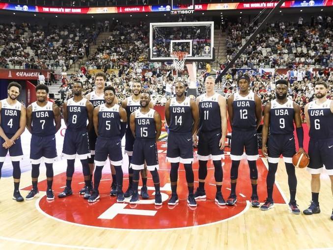 Das bei der WM enttäuschende Basketballteam der USA schloss das Turnier in China auf Rang sieben ab. Foto:Ding Ting/XinHua