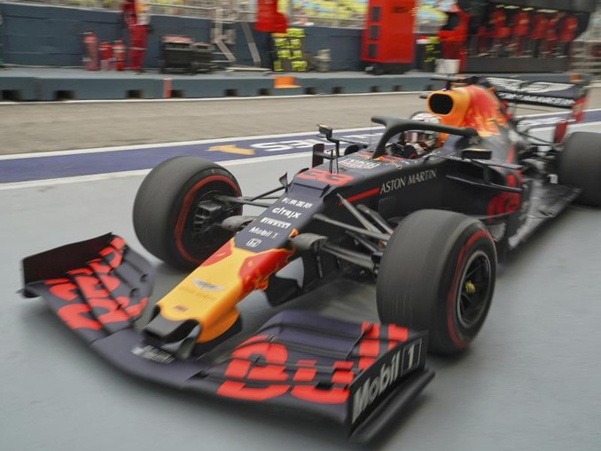 Der Niederländer Max Verstappen fuhr im ersten Training die Bestzeit. /AP