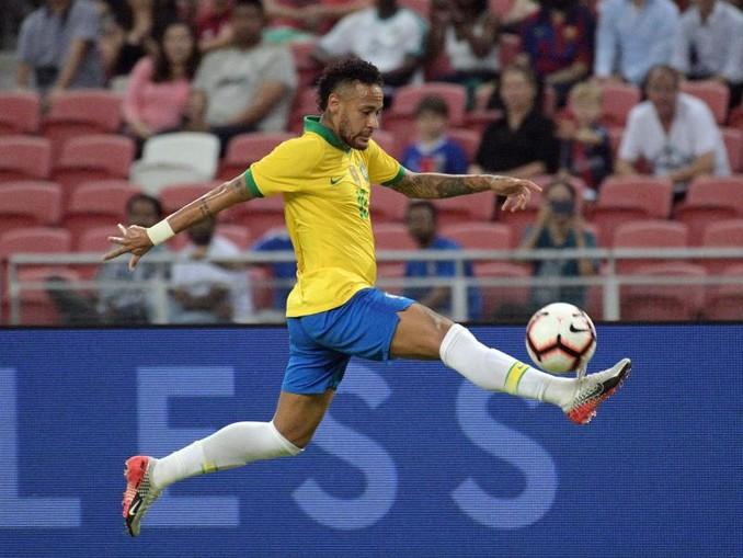 Spielte zum 100. Mal für die brasilianische Nationalmannschaft: Neymar. /XinHua/dpa