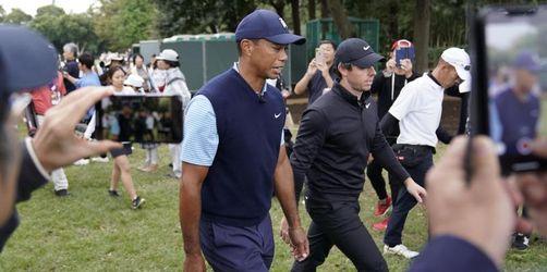 Nach Knie-OP: Woods Zweiter bei Show-Event in Japan