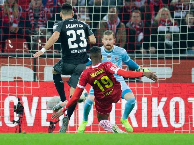 Sargis Adamyan (23) brachte mit seinem Tor zum den 1:1 Hoffenheim in Köln auf die Siegerstraße. /dpa