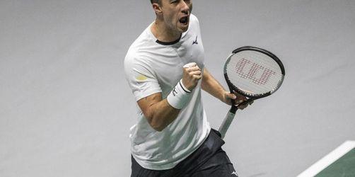 Deutsche Tennis-Herren bei Davis Cup im Viertelfinale