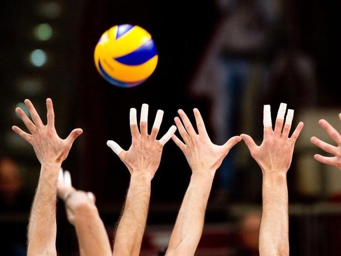 Ein Volleyball-Spiel. /dpa/Symbolbild