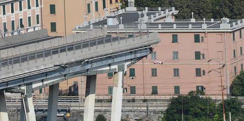 Verdächtige Geräusche an Unglücksbrücke in Genua