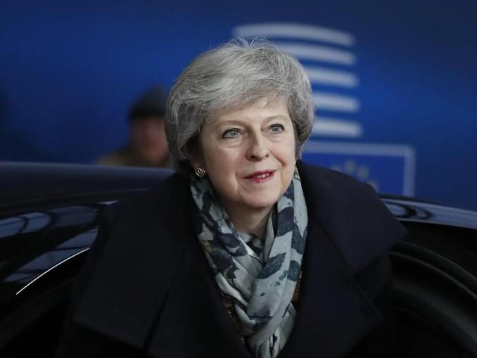 Großbritanniens Premierministerin Theresa May trifft zum EU-Gipfel in Brüssel ein. /AP