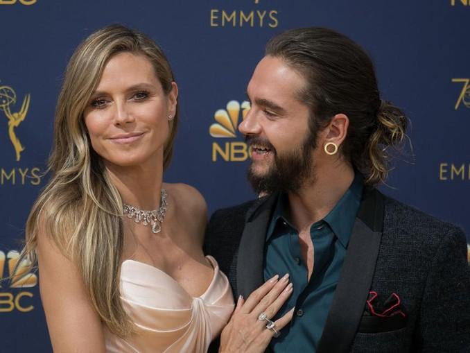 Heidi Klum mit ihrem Freund Tom Kaulitz bei der Verleihung der 70. Primetime Emmy Awards.