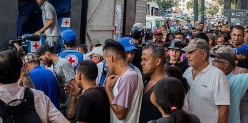 Rotes Kreuz verteilt erste Hilfsgüter in Venezuela