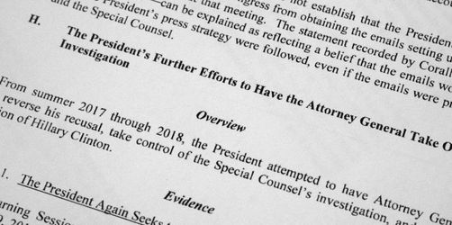 Mueller-Bericht: Trump wollte Ermittlungen vereiteln