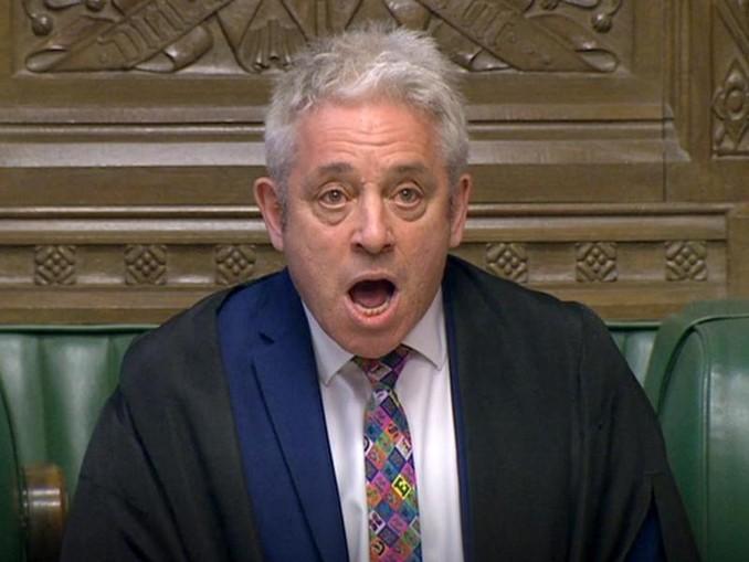 Das Parlament ist laut Parlamentspräsident John Bercow in der Lage, einen Brexit ohne Abkommen zu verhindern.. Foto: House Of Commons/PA Wire