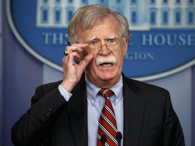 John Bolton bei einer Pressekonferenz im vergangenen August inWashington. /AP