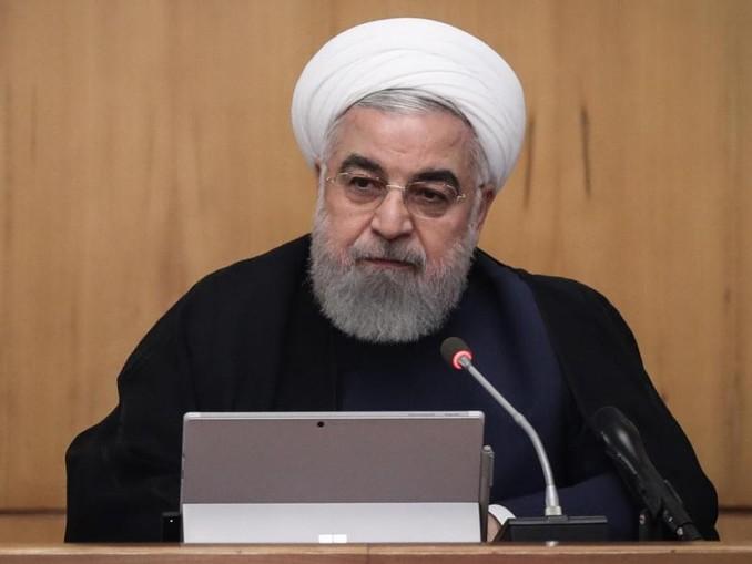 Präsident Hassan Ruhani am Mittwoch bei einer Kabinettssitzung in Teheran. Foto: Iranian Presidency
