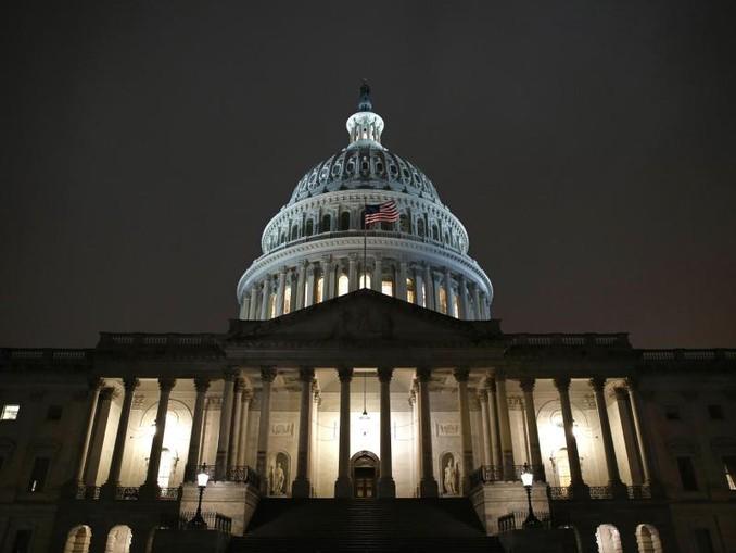 Das Kapitol nach einer Anhörung für ein mögliches Amtsenthebungsverfahren gegen US-Präsident Trump. /AP/dpa