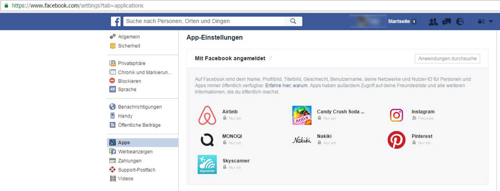 Wie man Apps von Facebook entfernt