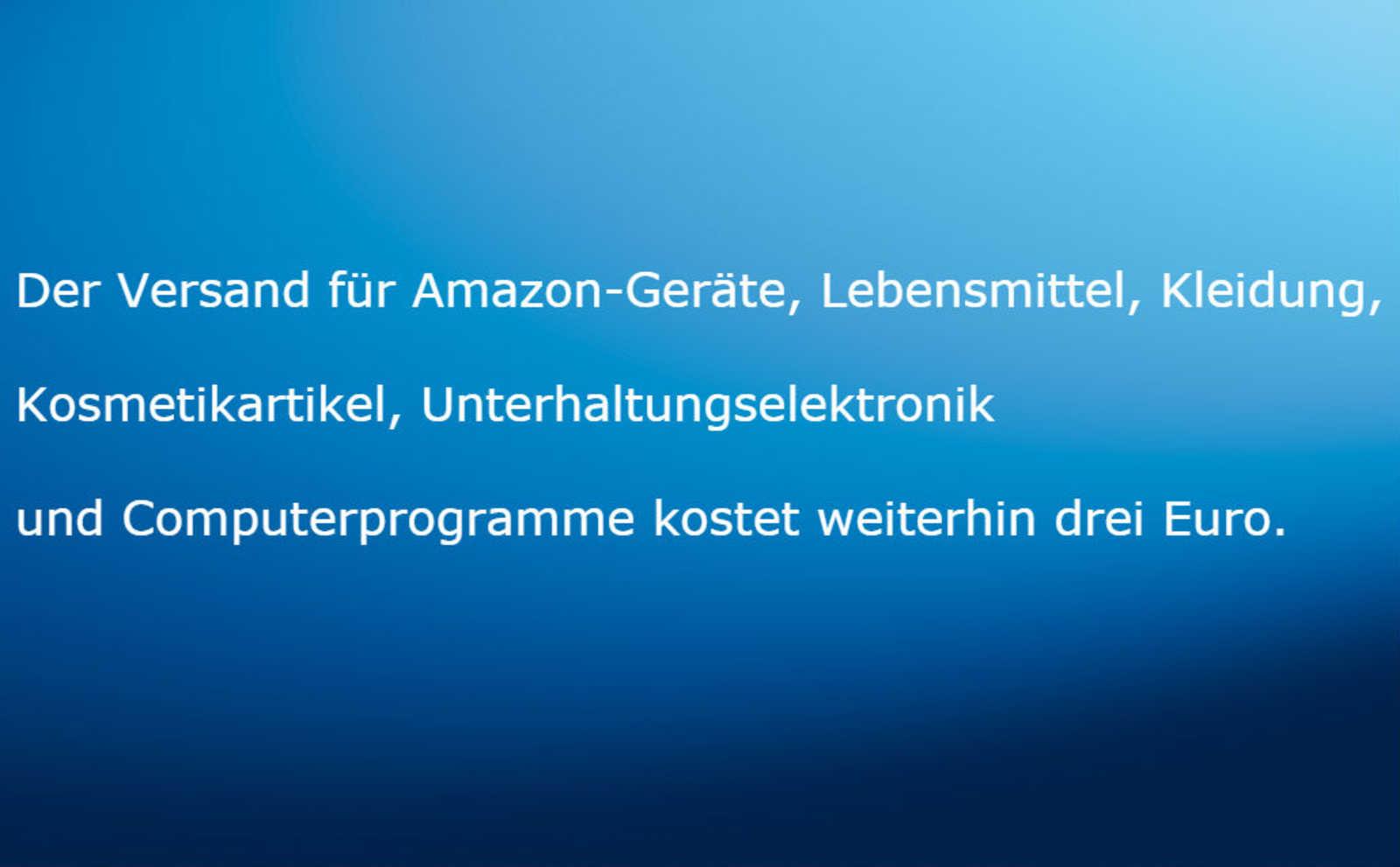 Amazon erhöht Versandkosten kurz vor Weihnachten um bis zu 40 ...