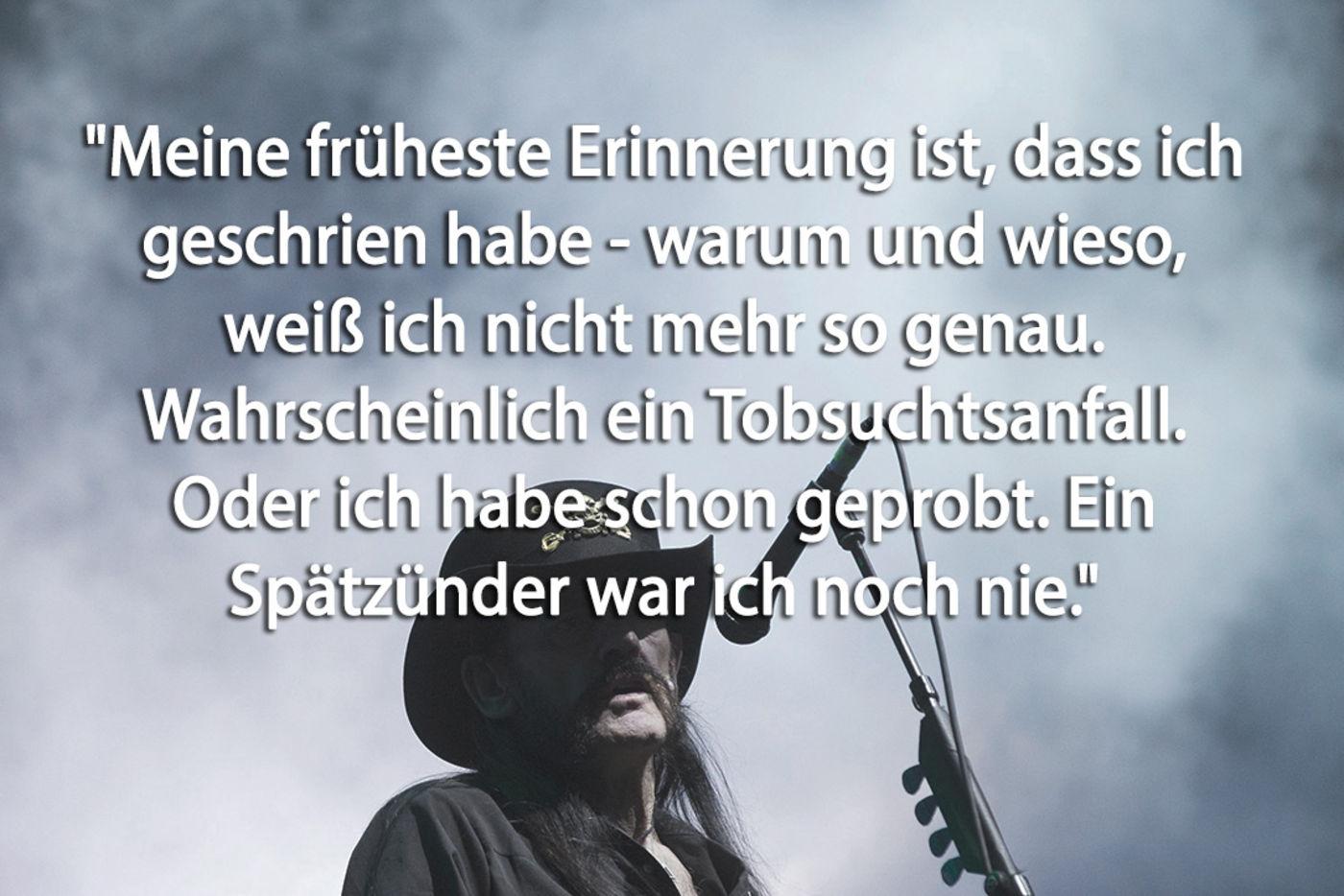 Sex Drugs Rock N Roll Die Besten Spruche Von Lemmy Kilmister