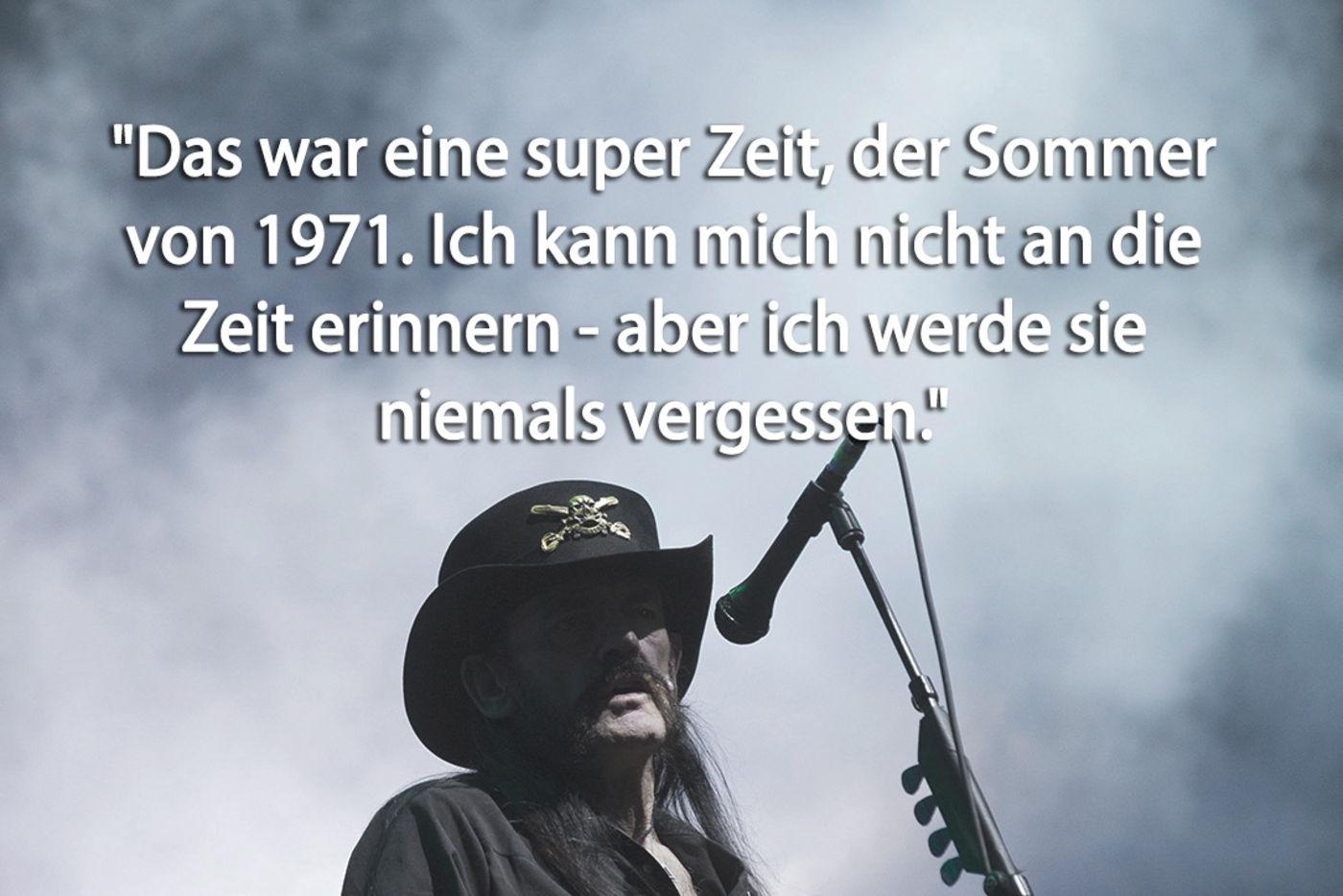 Sex Drugs Rocknroll Die Besten Sprüche Von Lemmy