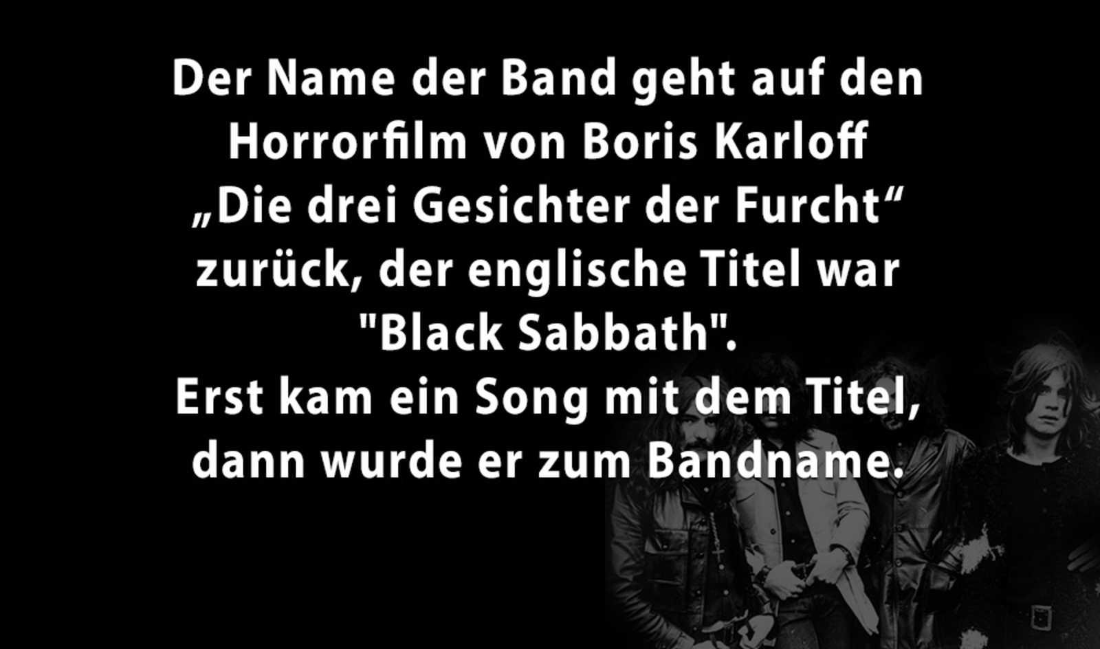 5 Facts über Black Sabbath