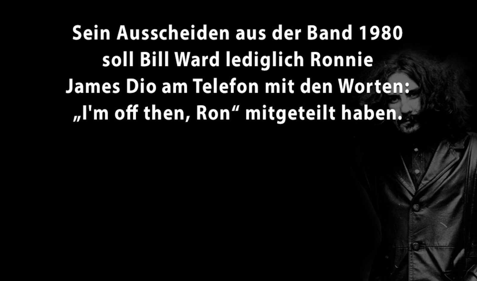 5 Facts über Bill Ward