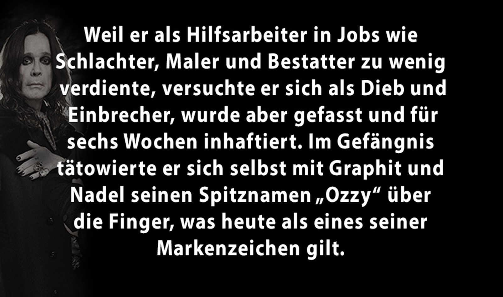 5 Facts über Ozzy Osbourne
