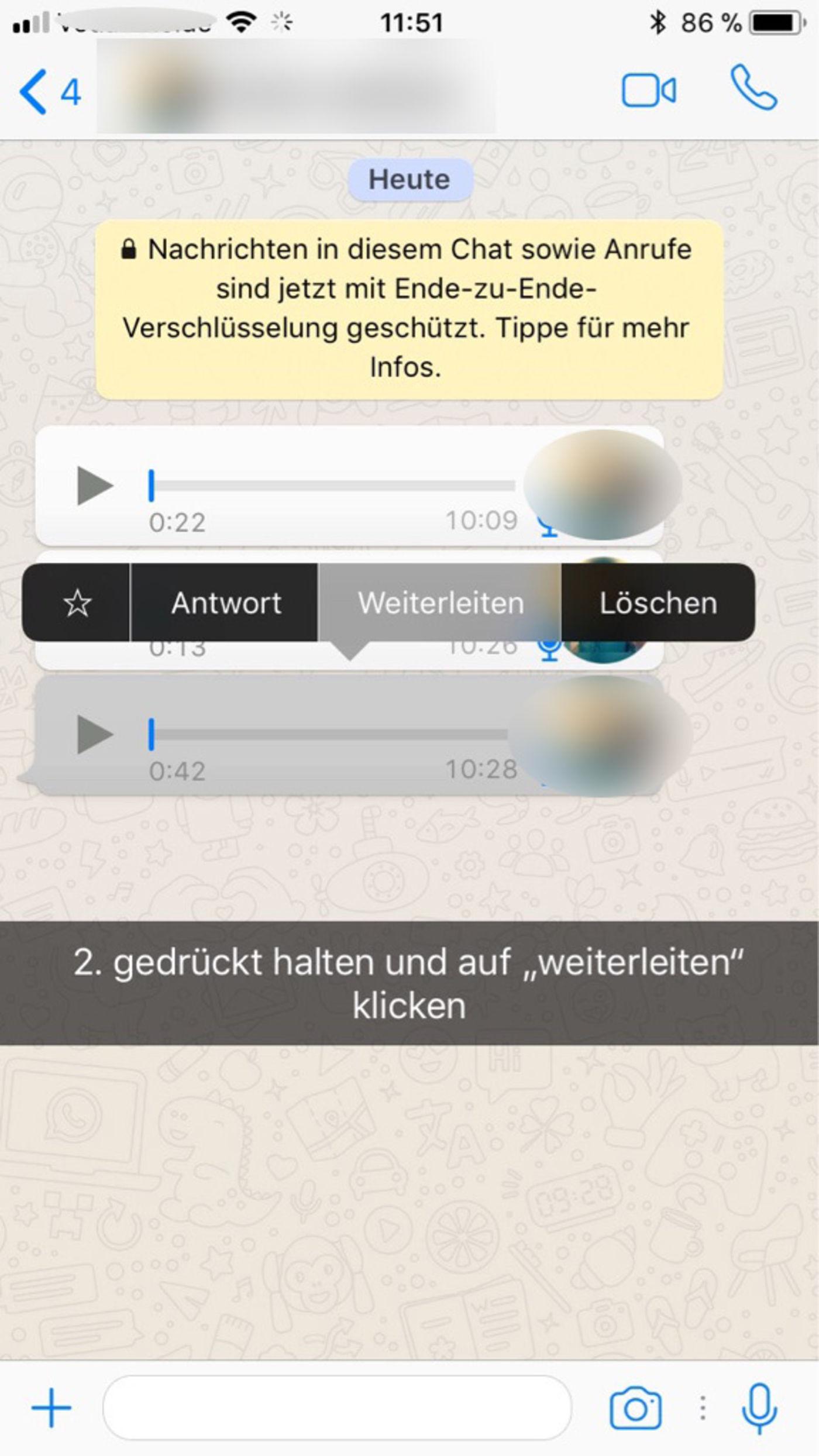 Ankommende Whatsapp Nachrichten Verbergen