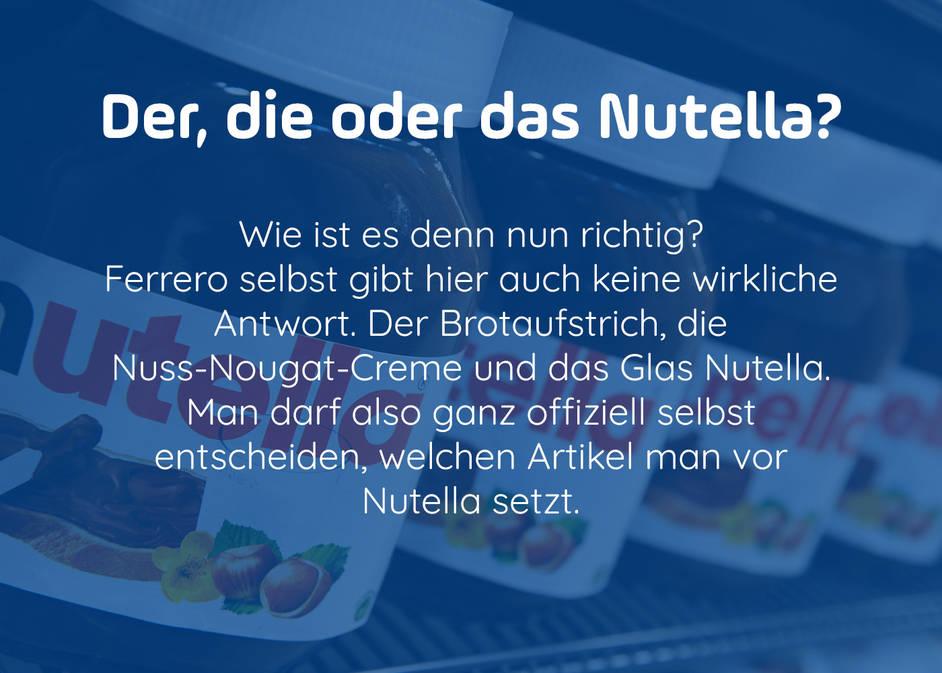 Nutella in aller Munde: Kuriose Fakten um den Brotaufstrich und was ...
