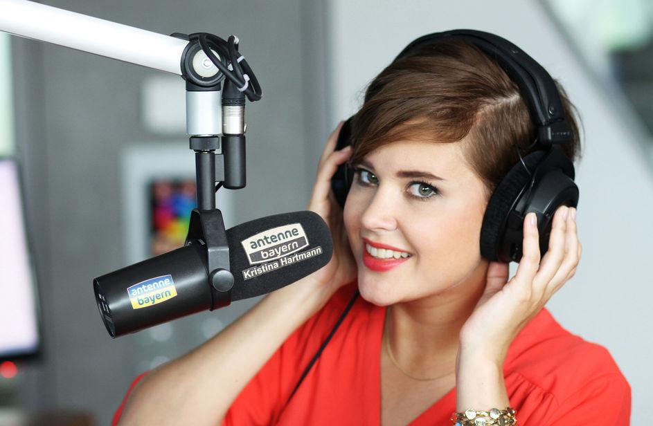 Kristina Hartmann bei Antenne Bayern