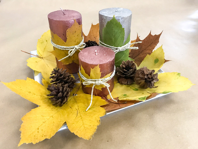 DIY: Herbstliche Kerzen