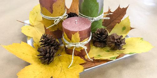 DIY: Herbstliche Kerzen-Deko
