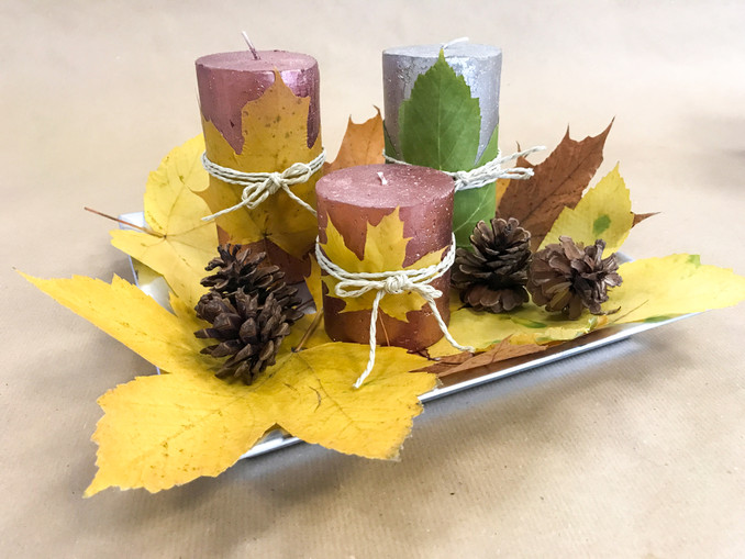 DIY: Herbstliche Kerzen, Deko