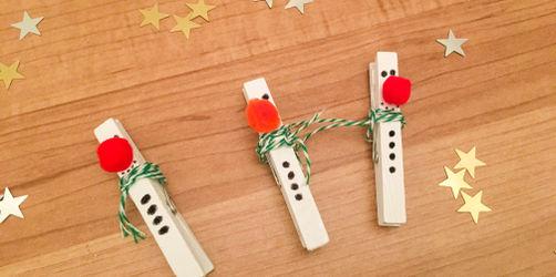 DIY: Kleine Schneemännchen basteln