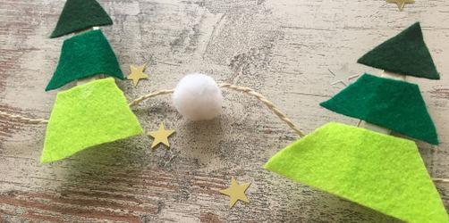 DIY: Tannenbaum-Girlande aus Wäscheklammern