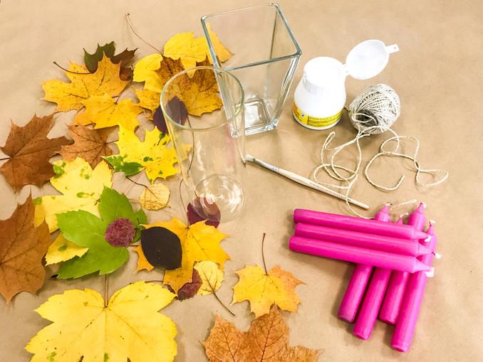 DIY: Herbstliches Windlicht