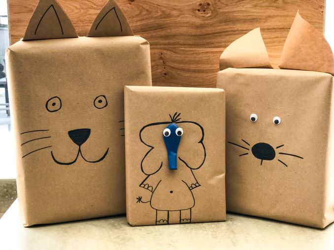 DIY Geschenkverpackung für Kinder