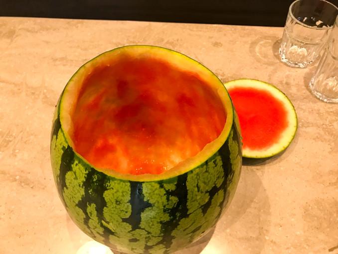 Wassermelone aushöhlen