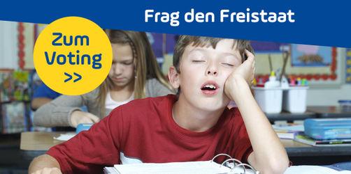 Soll die Schule in Bayern erst um 9 Uhr beginnen? Stimmt ab!
